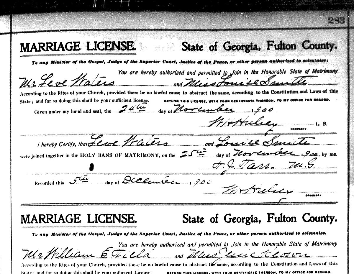 Georgia Marriage Certificate