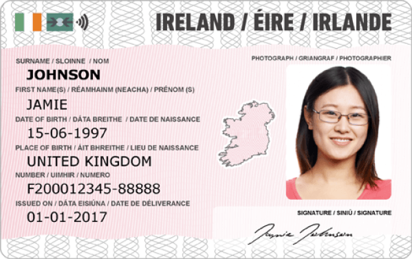 Card Irish - Id Novelty Documents Best