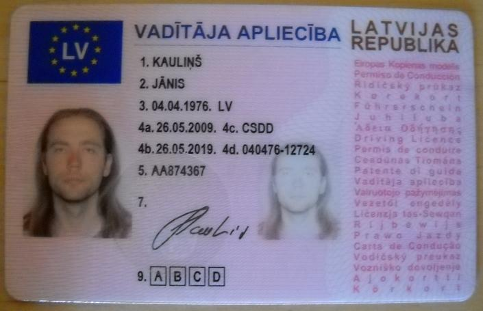 License - Novelty Best Lithuania Documents Driver's