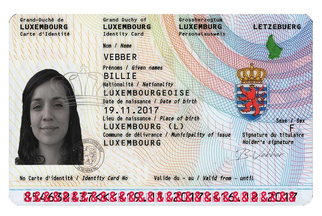 Documents Novelty - Luxembourg Card Id Best