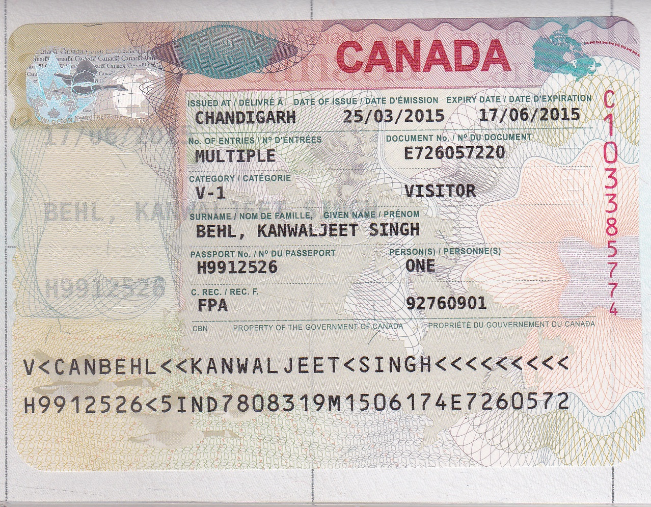 Visa Canada Sale For Online authentic Canadian